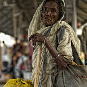 Old Lady at Kolkata Train Station | Leica 35mm f/1.4 Summilux <br> Click image for more details, Click <b>X</b> on top right of image to close